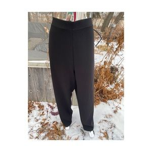 Vintage Black Casual Trousers Pants Formal Tapered
